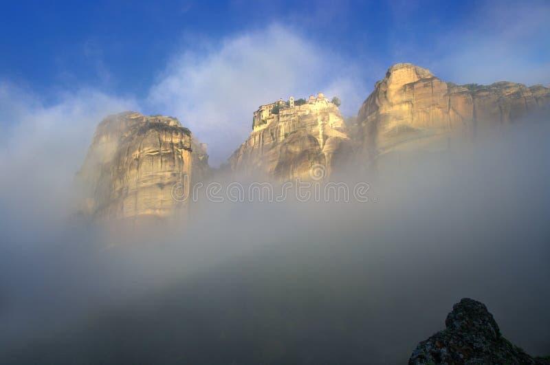 Φθινόπωρο σε Meteora, Ελλάδα - ST Barlaam στοκ εικόνα με δικαίωμα ελεύθερης χρήσης