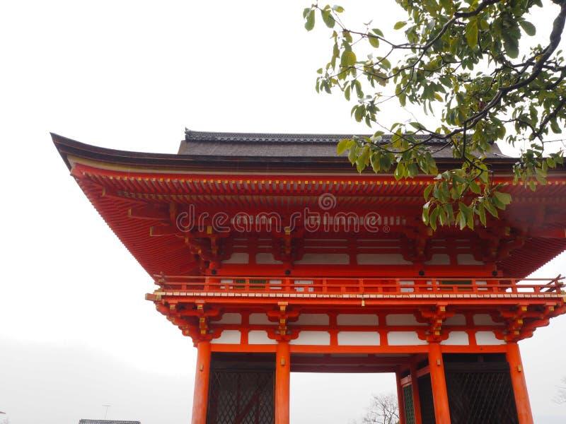 Φθινόπωρο του Κιότο, Ιαπωνία στο ναό kiyomizu-Dera στοκ φωτογραφίες με δικαίωμα ελεύθερης χρήσης