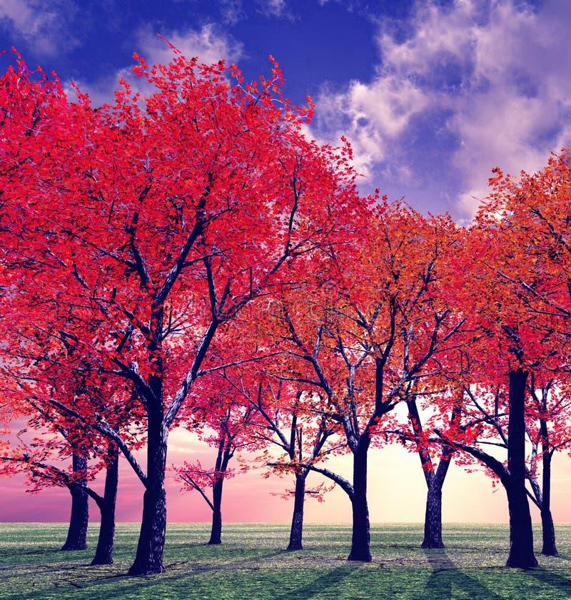 φθινόπωρο όμορφο διανυσματική απεικόνιση