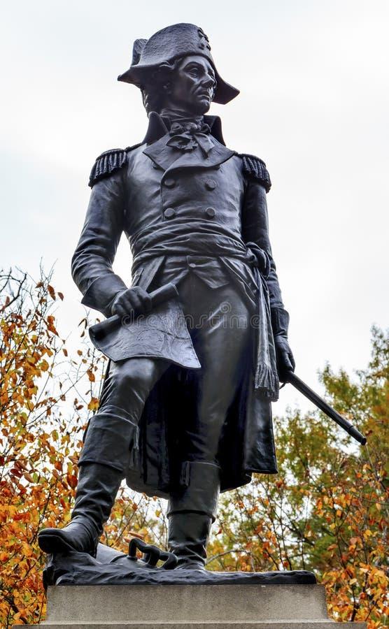 Φθινόπωρο Washington DC πάρκων του Λαφαγέτ αγαλμάτων Kosciuszko στοκ φωτογραφία
