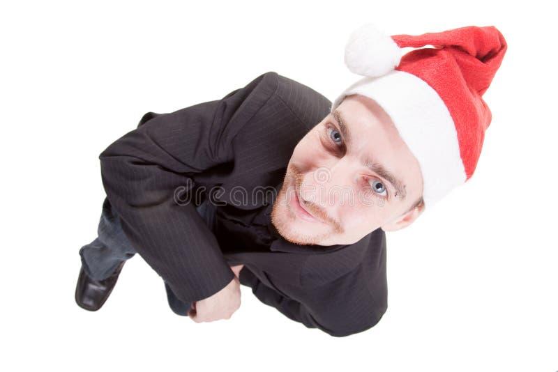 φθορά santa καπέλων επιχειρημ&alp στοκ φωτογραφίες