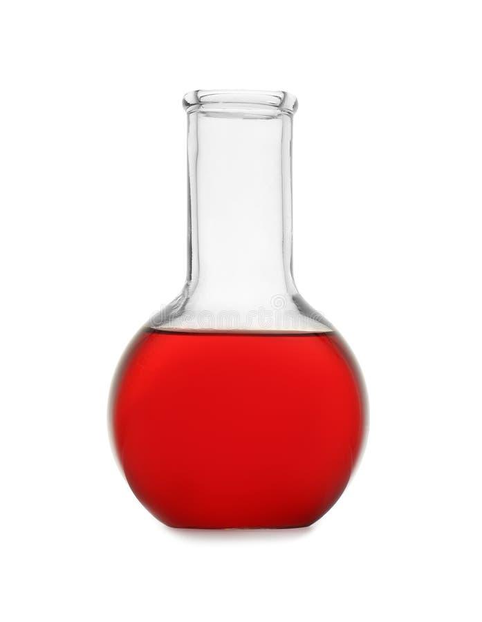 Φιάλη με το δείγμα χρώματος Γυαλικά χημείας στοκ εικόνες με δικαίωμα ελεύθερης χρήσης
