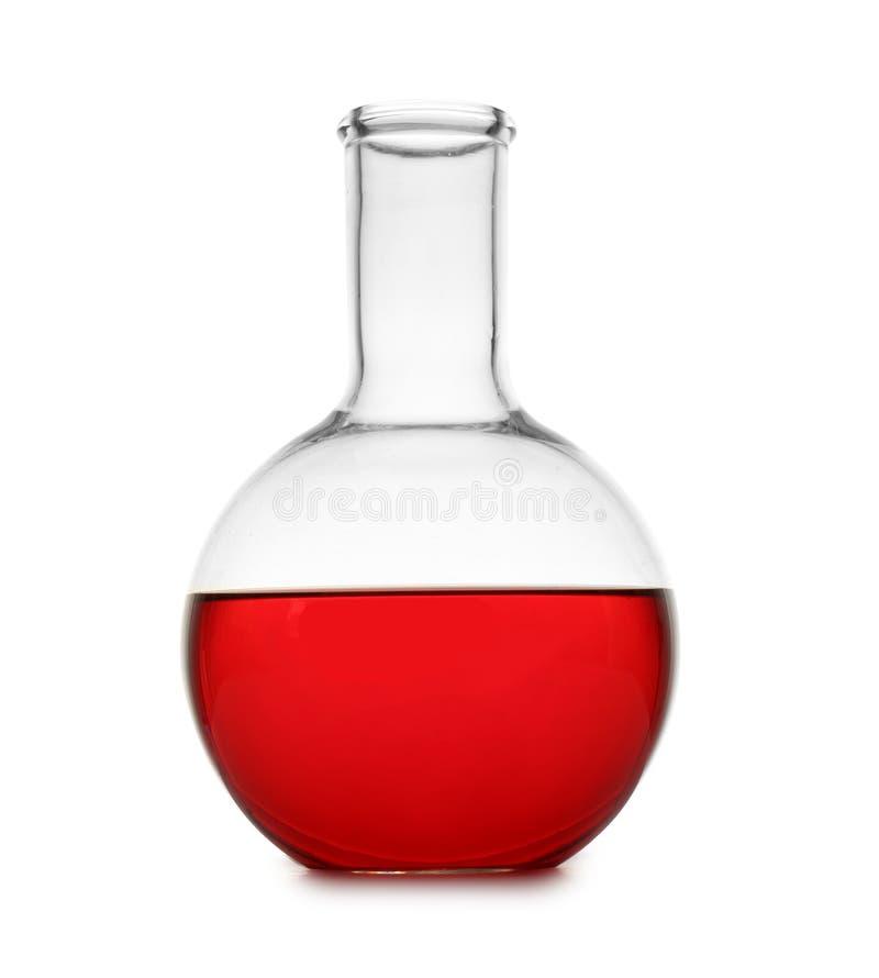 Φιάλη με το δείγμα χρώματος που απομονώνεται στο λευκό στοκ εικόνα με δικαίωμα ελεύθερης χρήσης