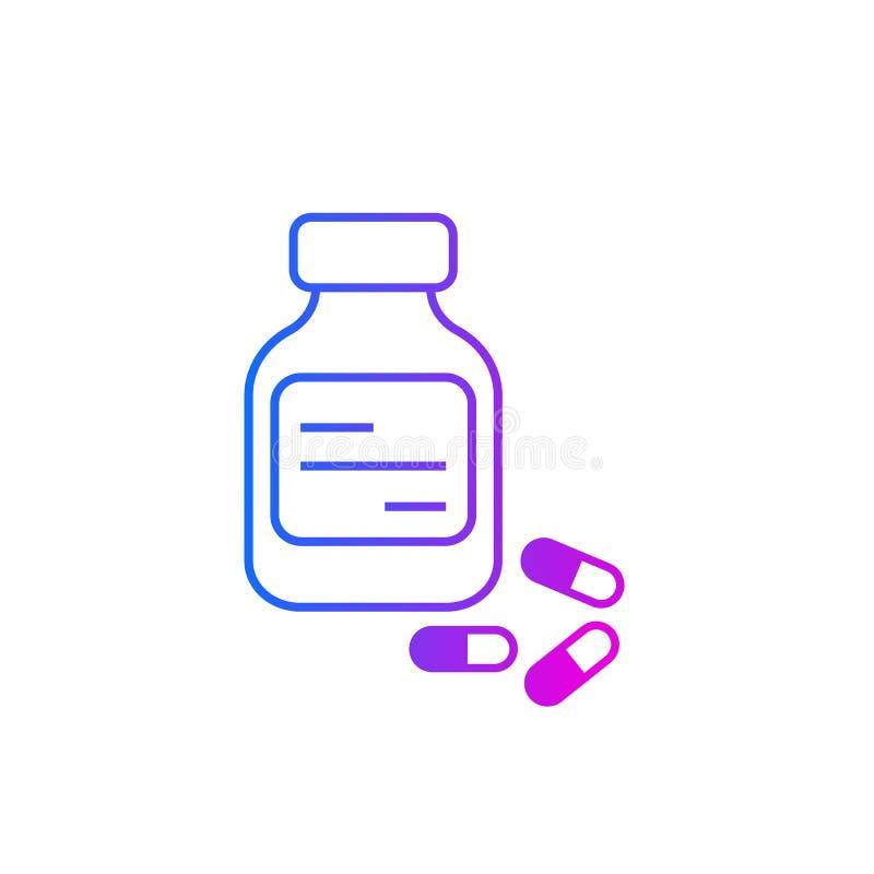 Φιαλίδιο και φάρμακα διανυσματική απεικόνιση