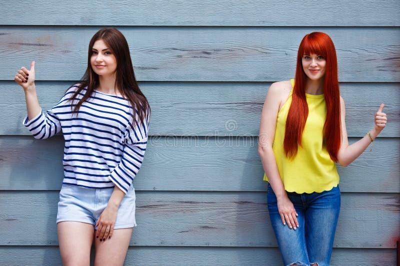 Φιλία, φυσική ομορφιά, ελεύθερος χρόνος, καλοκαίρι, έννοια νεολαίας Δύο στοκ φωτογραφία με δικαίωμα ελεύθερης χρήσης