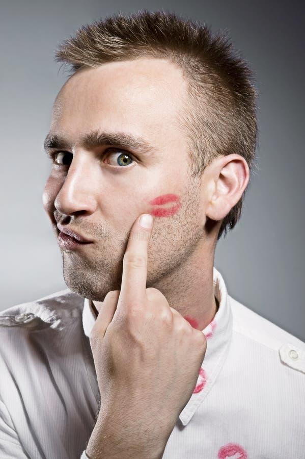 Φιλημένο άτομο στοκ εικόνες