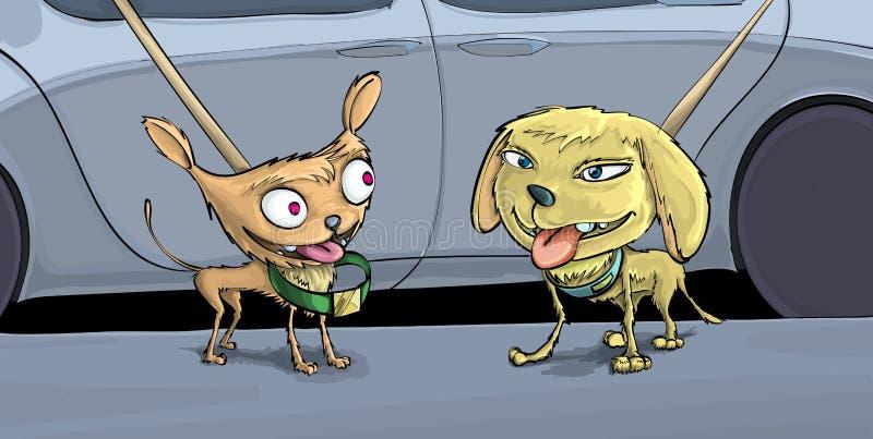φιλικά σκυλιά δύο απεικόνιση αποθεμάτων