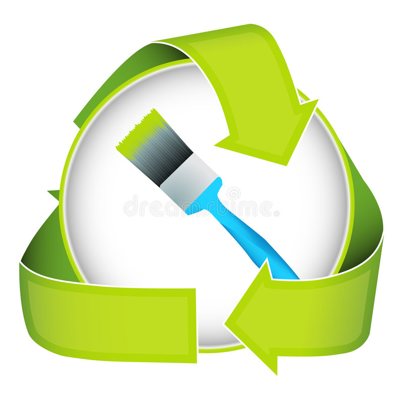 φιλική πράσινη πλύση χρωμάτων eco διανυσματική απεικόνιση