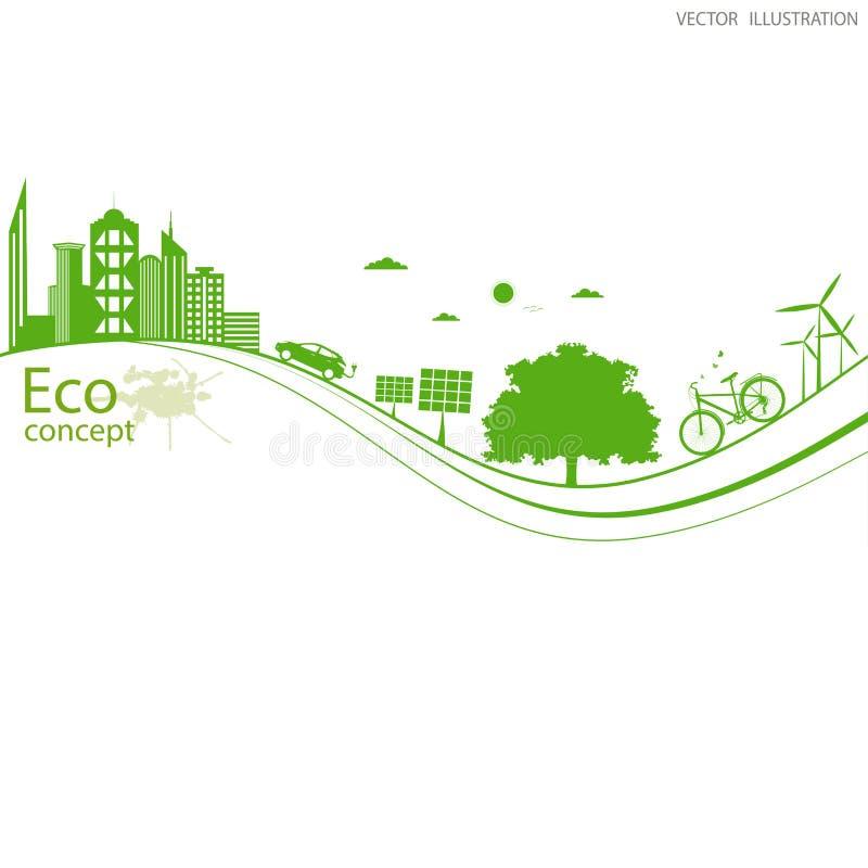 Φιλικός προς το περιβάλλον κόσμος διανυσματική απεικόνιση