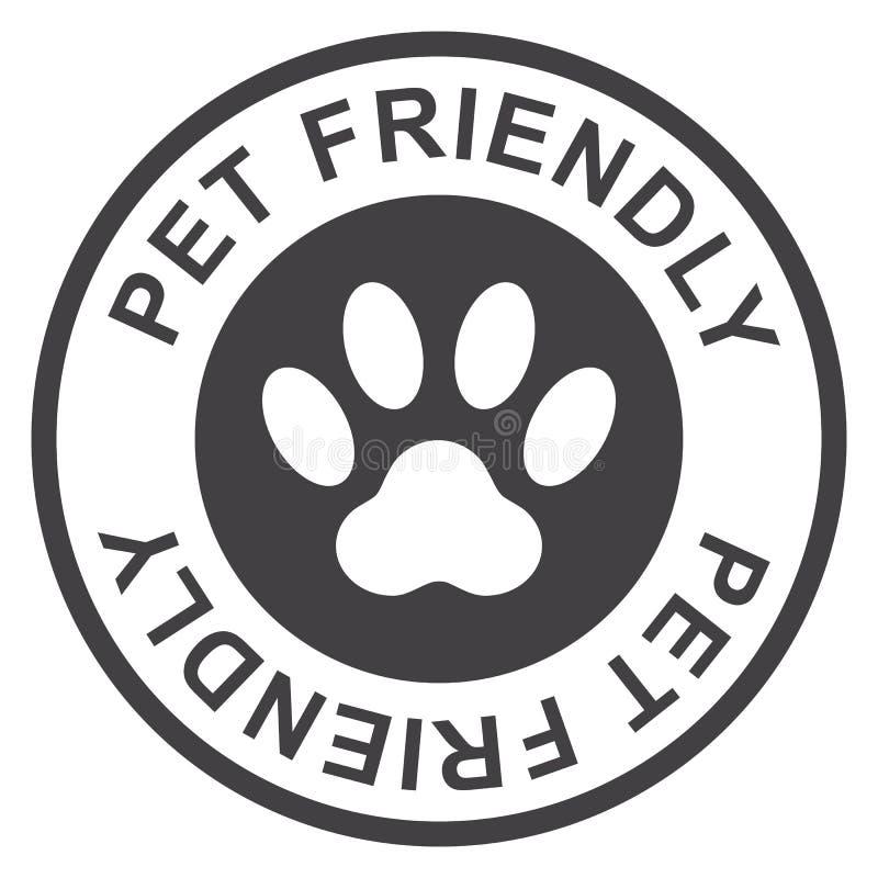 Φιλικό γραμματόσημο της Pet, ο Μαύρος που απομονώνεται στο άσπρο υπόβαθρο, διανυσματική απεικόνιση διανυσματική απεικόνιση