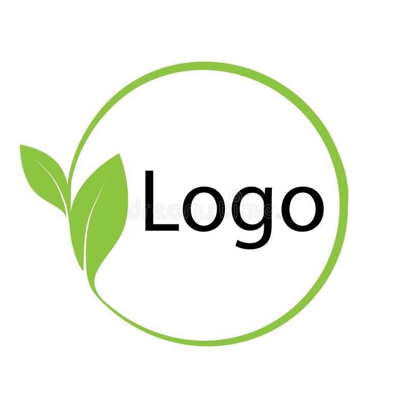 Φιλικό προς το περιβάλλον στοιχείο σχεδίου eco προτύπων συμβόλων λογότυπων διανυσματική απεικόνιση
