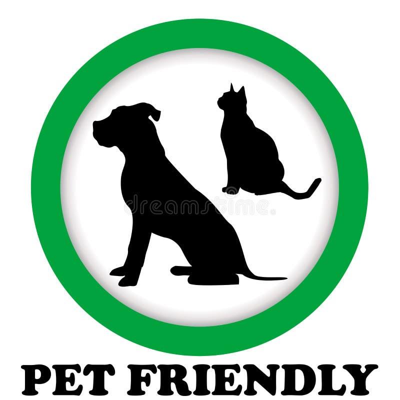 Φιλικό σημάδι της Pet ελεύθερη απεικόνιση δικαιώματος