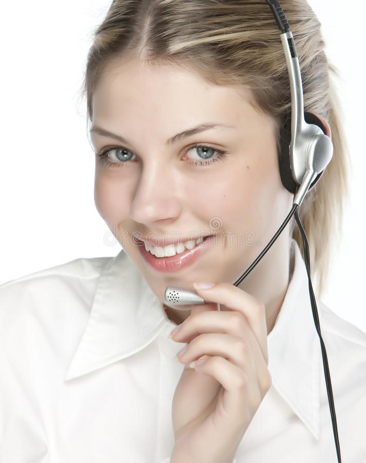 φιλικό τηλέφωνο γραμματέων χειριστών στοκ εικόνες