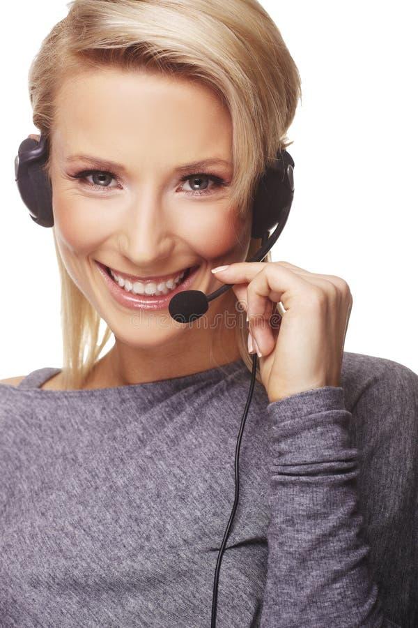 φιλικό τηλέφωνο γραμματέων στοκ εικόνες με δικαίωμα ελεύθερης χρήσης