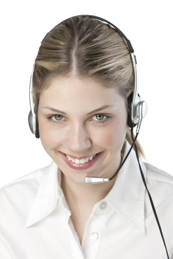 φιλικό τηλέφωνο γραμματέων στοκ εικόνα με δικαίωμα ελεύθερης χρήσης