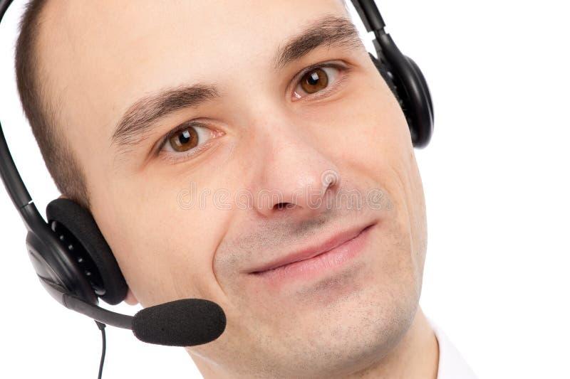 φιλικό τηλέφωνο χειριστών στοκ εικόνες