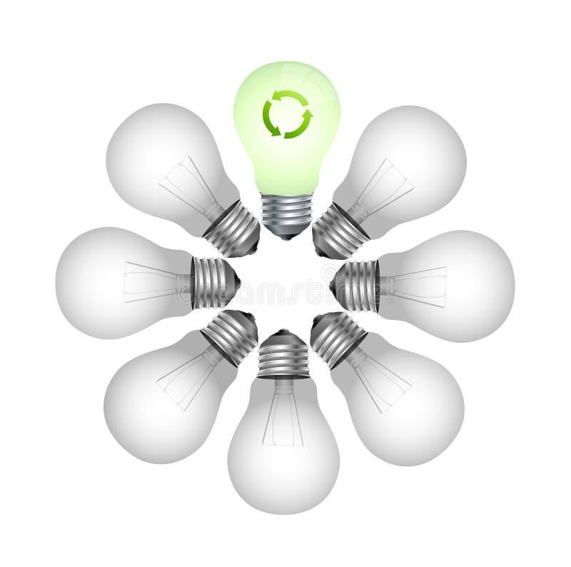 φιλικό φως eco βολβών ελεύθερη απεικόνιση δικαιώματος