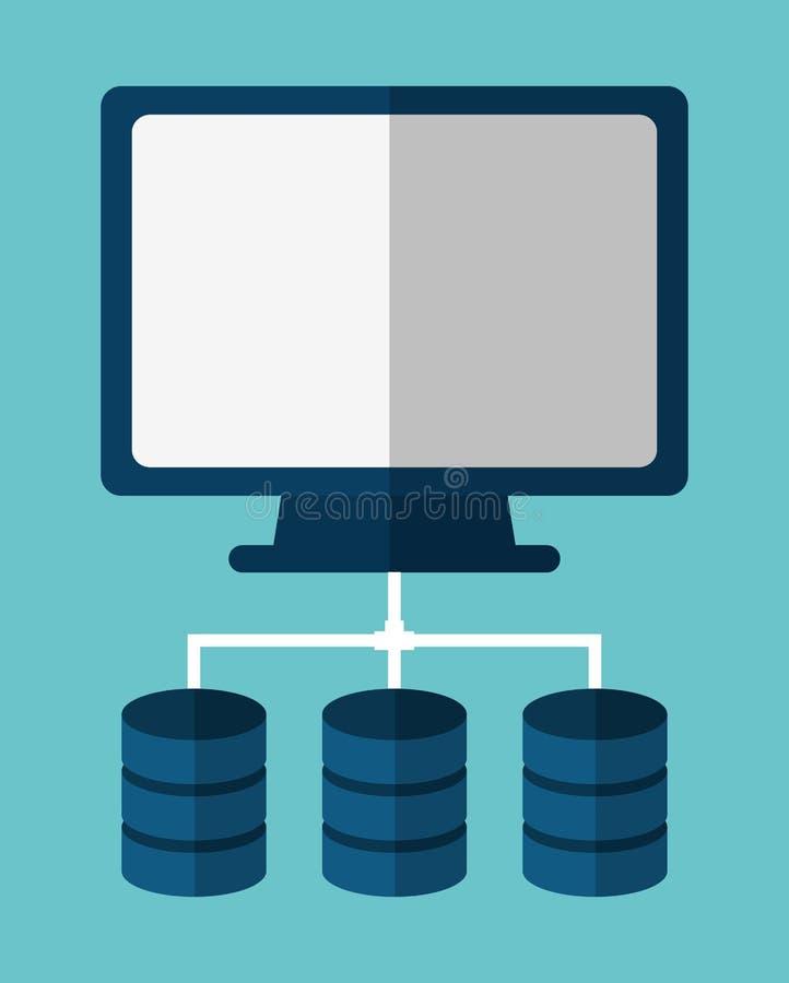 Φιλοξενία Ιστού κέντρων δεδομένων υπολογιστών σαν διανυσματικά κύματα στροβίλου ανασκόπησης διακοσμητικά γραφικά τυποποιημένα απεικόνιση αποθεμάτων