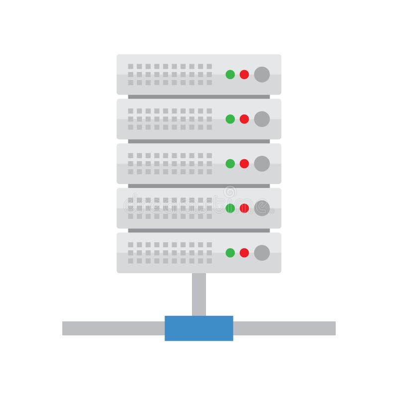 Φιλοξενία κεντρικών υπολογιστών Εικονίδιο βάσεων δεδομένων διανυσματική απεικόνιση