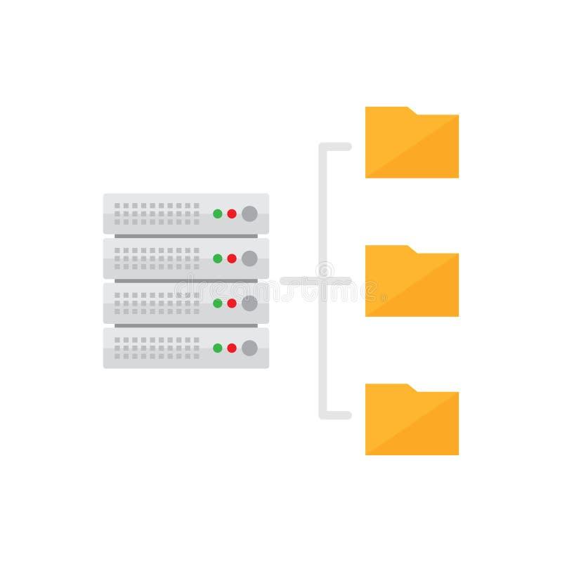 Φιλοξενία κεντρικών υπολογιστών Εικονίδιο βάσεων δεδομένων απεικόνιση αποθεμάτων