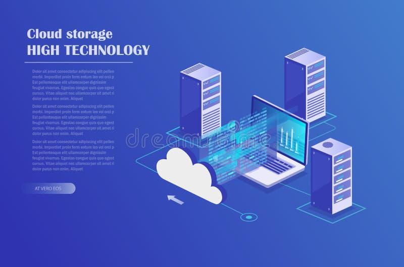 Φιλοξενία σύννεφων διανυσματική απεικόνιση