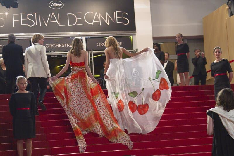 φιλοξενούμενοι ταινιών φεστιβάλ των Καννών στοκ εικόνες με δικαίωμα ελεύθερης χρήσης