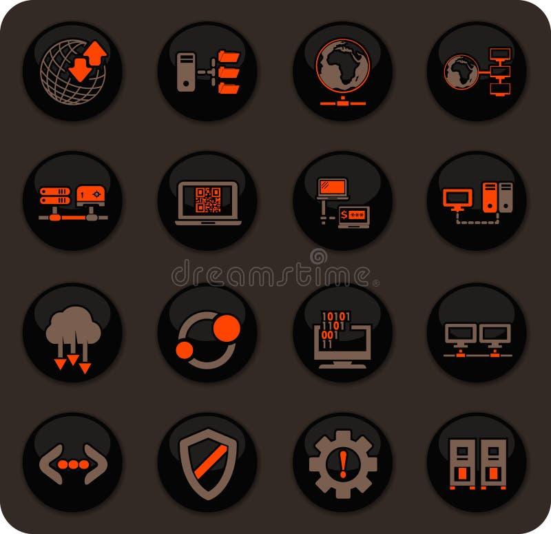 Φιλοξενώντας εικονίδια προμηθευτών καθορισμένα διανυσματική απεικόνιση