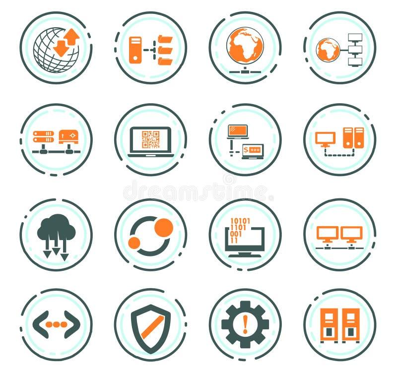 Φιλοξενώντας εικονίδια προμηθευτών καθορισμένα απεικόνιση αποθεμάτων