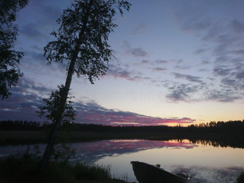 Φινλανδική νύχτα στοκ εικόνες