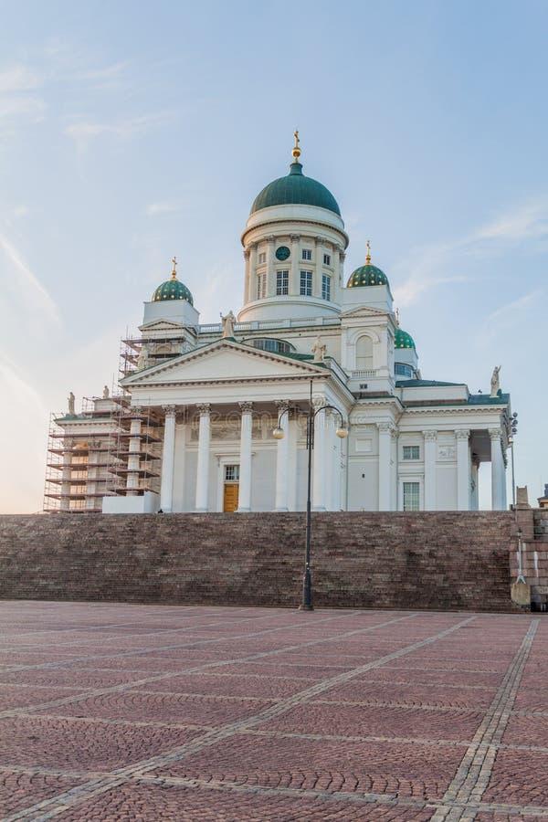Φινλανδικός εβαγγελικός λουθηρανικός καθεδρικός ναός στο τετράγωνο Συγκλήτου σε Helsin στοκ εικόνα