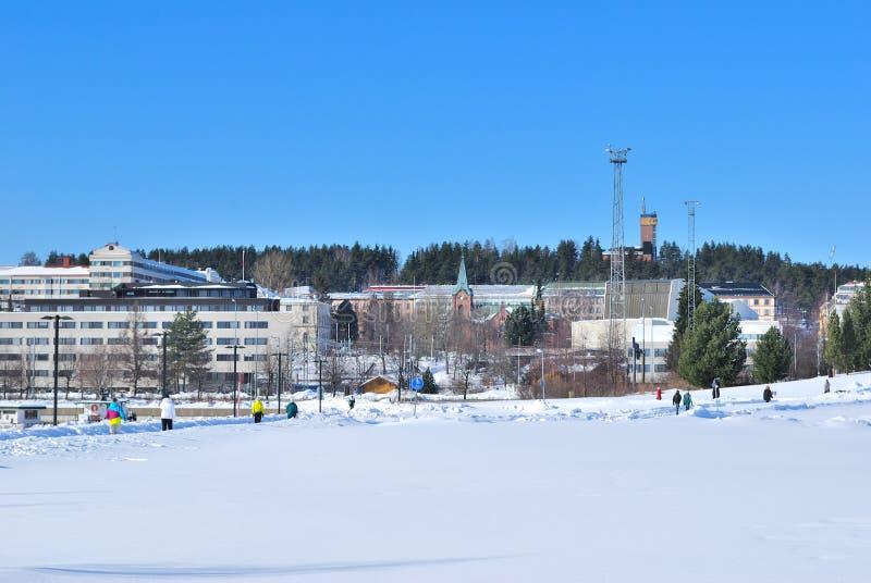Φινλανδία. Λιμάνι Jyvaskyla στοκ εικόνες