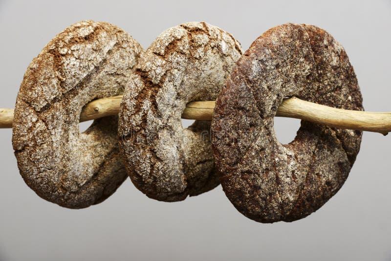 Φινλανδικό στρογγυλό ψωμί σίκαλης τρία στοκ εικόνες με δικαίωμα ελεύθερης χρήσης