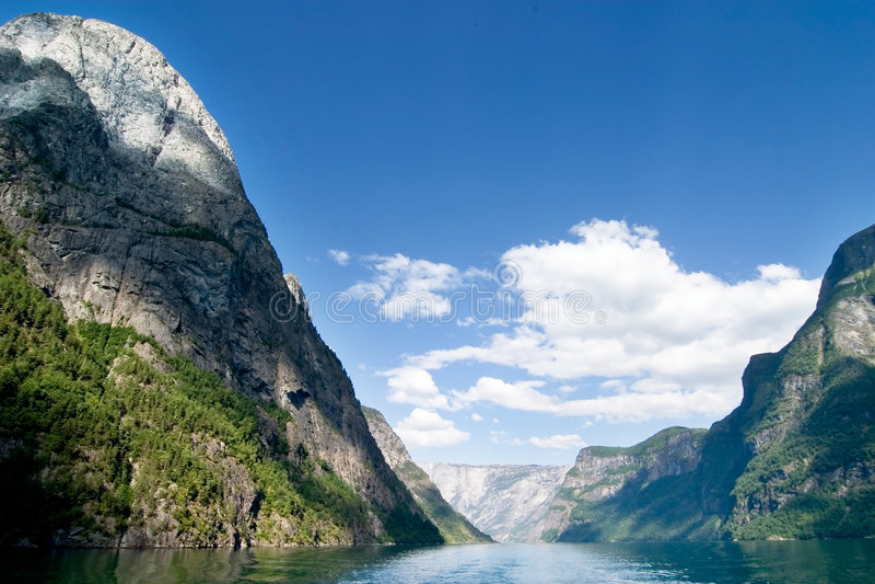 φιορδ Νορβηγία φυσική στοκ φωτογραφία με δικαίωμα ελεύθερης χρήσης