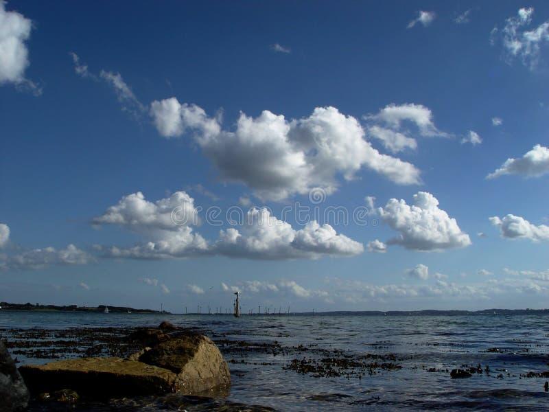 φιορδ σύννεφων Στοκ Εικόνες