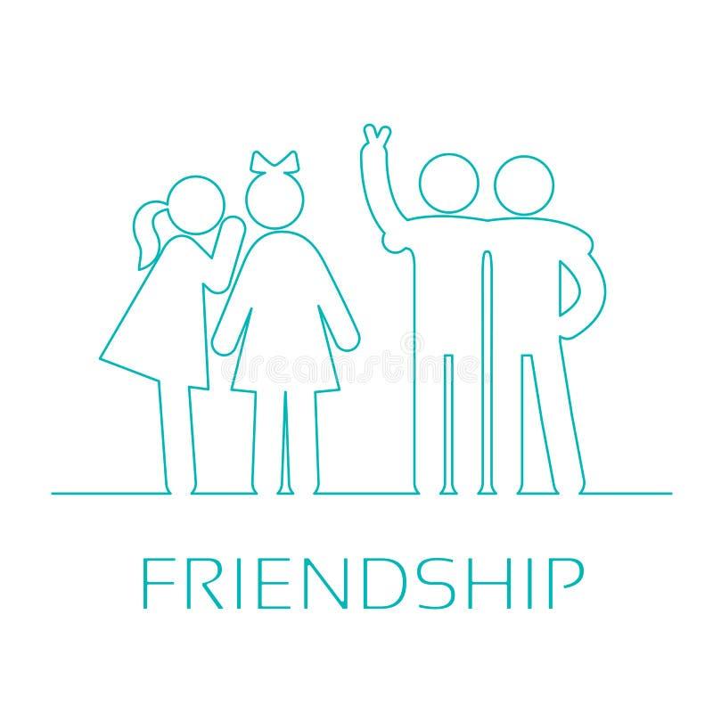 Φιλία εικονιδίων διανυσματική απεικόνιση