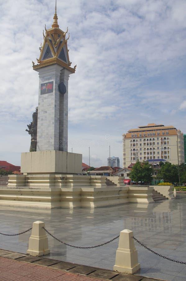 Φιλία Monumen της Καμπότζης Βιετνάμ στοκ φωτογραφίες