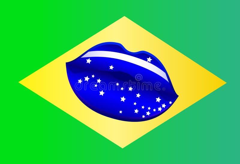 Φιλί Βραζιλία στοκ εικόνα