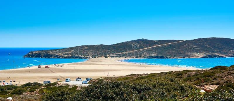 Φιλί δύο θαλασσών Ρόδος, Ελλάδα Μεσόγειος και Αιγαίο πέλαγος στοκ εικόνες με δικαίωμα ελεύθερης χρήσης