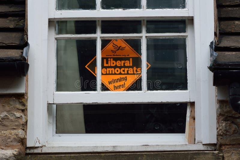 Φιλελεύθεροι δημοκράτες «που κερδίζουν εδώ» στοκ εικόνα