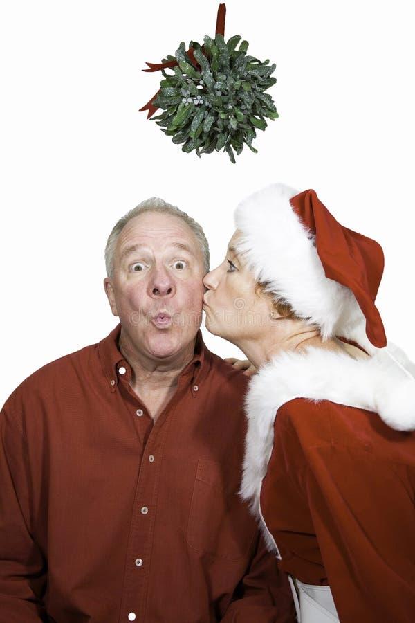 φιλημένο γκι κάτω στοκ φωτογραφία με δικαίωμα ελεύθερης χρήσης