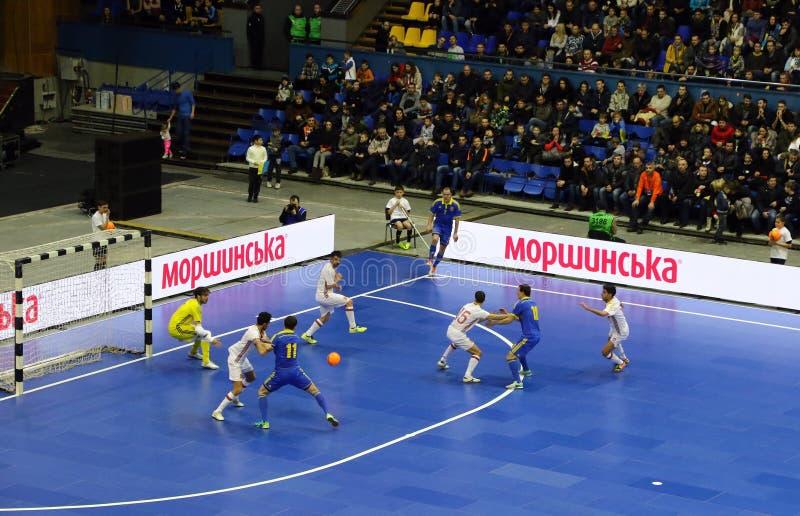 Φιλικός αγώνας Ουκρανία β Futsal Ισπανία στοκ φωτογραφία με δικαίωμα ελεύθερης χρήσης