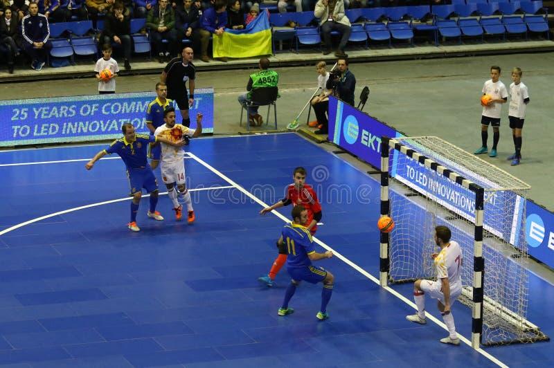 Φιλικός αγώνας Ουκρανία β Futsal Ισπανία στοκ εικόνες με δικαίωμα ελεύθερης χρήσης