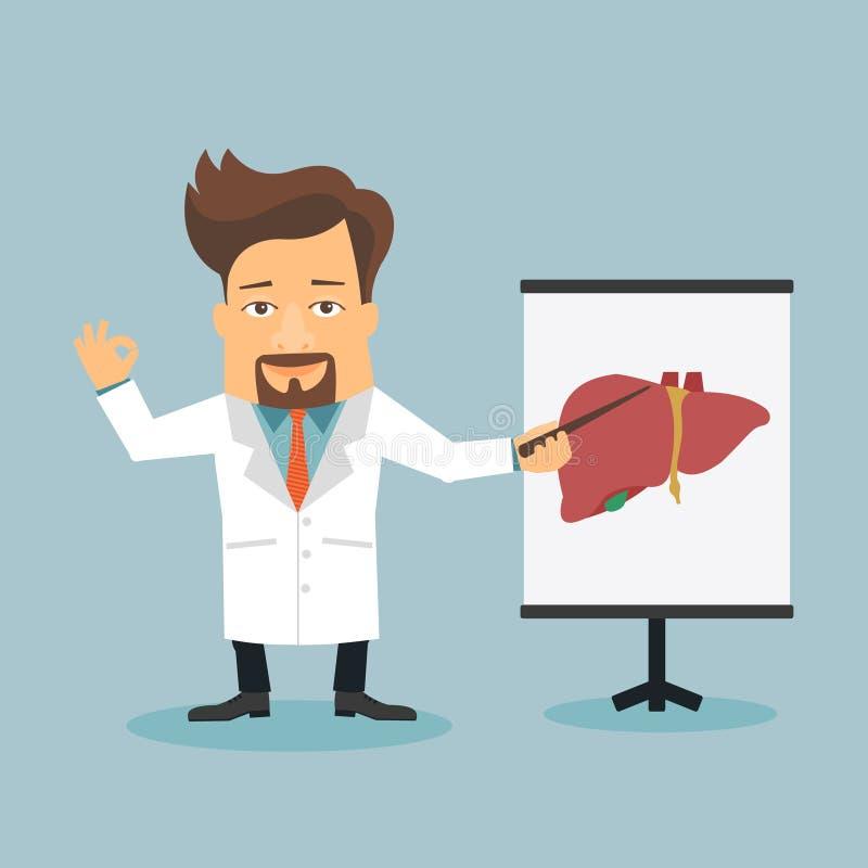 Φιλικός επίπεδος χαρακτήρας κινουμένων σχεδίων θεραπόντων γιατρών απεικόνιση αποθεμάτων