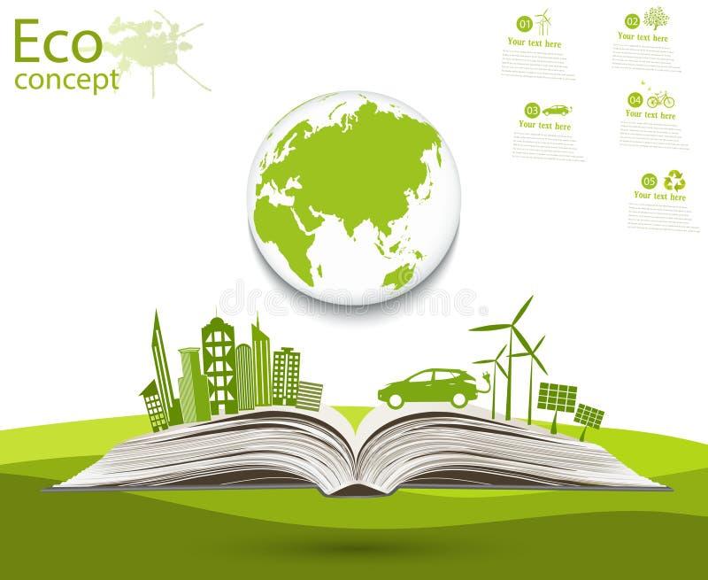 Φιλικός προς το περιβάλλον κόσμος απεικόνιση αποθεμάτων