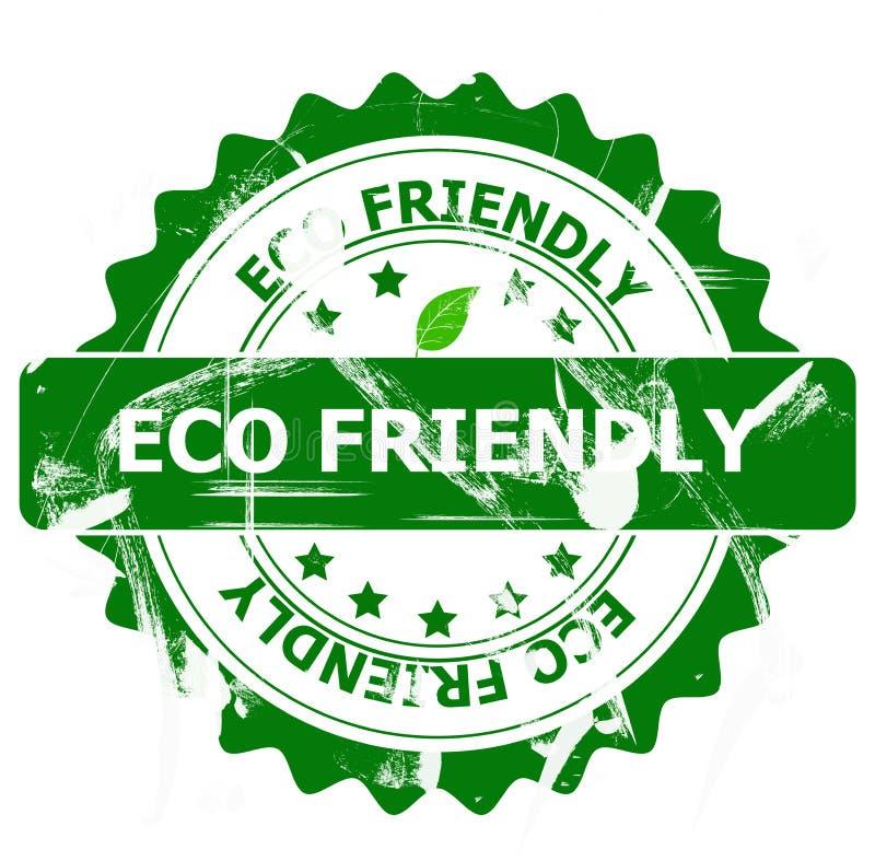 Φιλικό γραμματόσημο Eco στοκ εικόνες