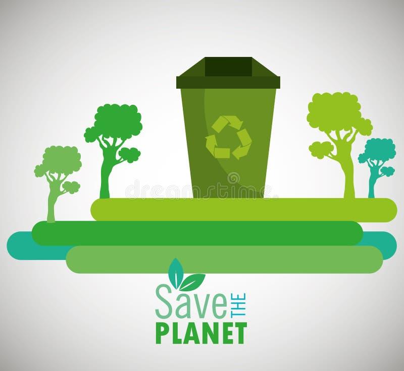 Φιλικό σχέδιο Eco απεικόνιση αποθεμάτων