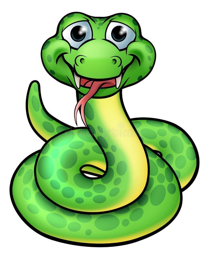Φιλικό φίδι κινούμενων σχεδίων απεικόνιση αποθεμάτων