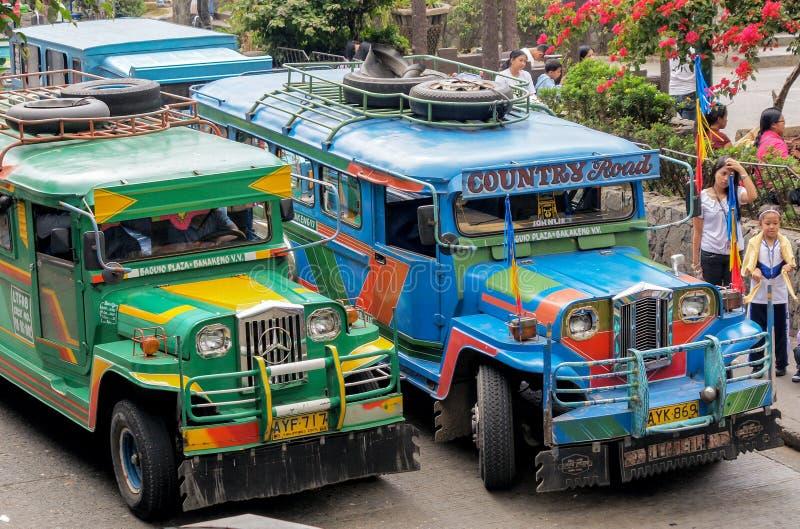 Φιλιππινέζικο Jeepneys στοκ φωτογραφία