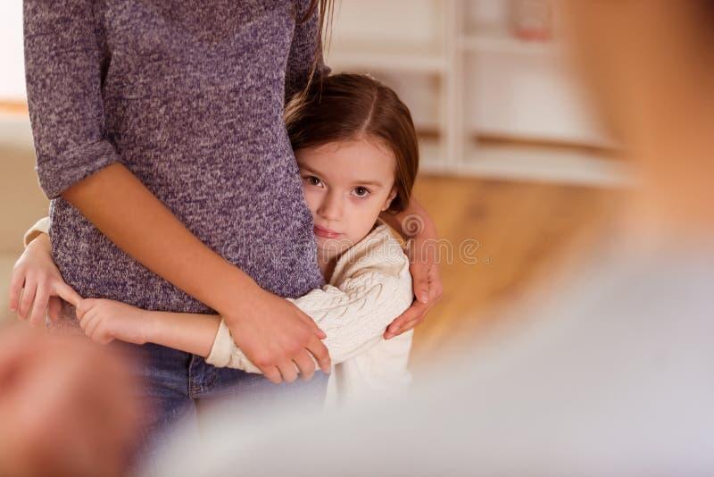 Φιλονικίες μεταξύ των γονέων στοκ φωτογραφία