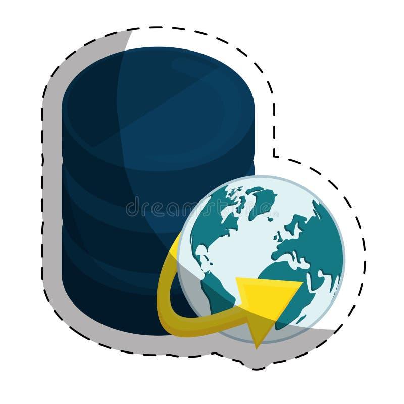 φιλοξενία Ιστού ή σχετική με το κέντρο δεδομένων εικόνα εικονιδίων ελεύθερη απεικόνιση δικαιώματος